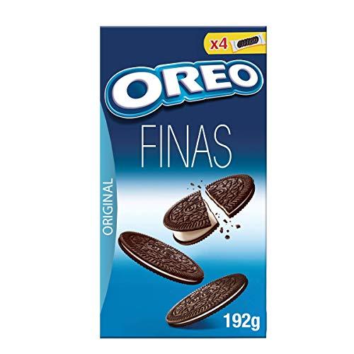 Oreo galletas finas de chocolate rellenas de crema caja 192 gr