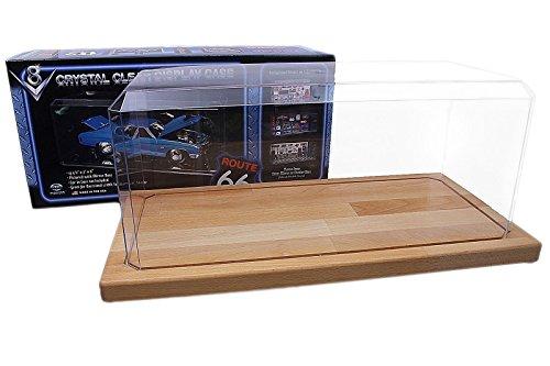 Pioneer Plastics – Acryl Vitrine für Diecast Modellautos, Maßstab 1:18 / 1:15 für übergroße Modelle, Holzboden