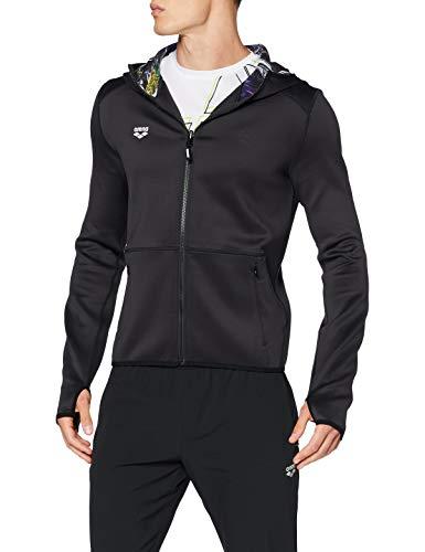 ARENA Chaqueta deportiva reversible con capucha para hombre, Hombre, Chaqueta deportiva, 003639, negro a rayas, large
