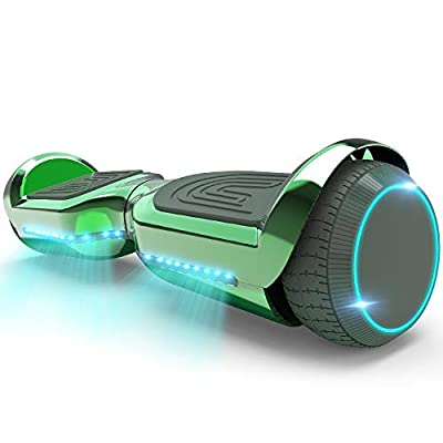 HOVERSTAR Hoverboard All-New Mode- HS2.1 Two-Wheel Self Balancing Scooter with Flashing Blue Wheel Lights and Wireless Bluetooth Speaker (Chrome Green)