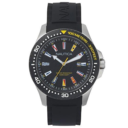 Nautica Reloj Analogico para Hombre de Cuarzo con Correa en Silicona NAPJBC003