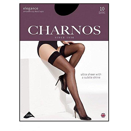 """Charnos Damen Elegance Satinabschluss Halterlose Strümpfe black small (4\'11\""""-5\'3\"""", 150-160 cm)"""