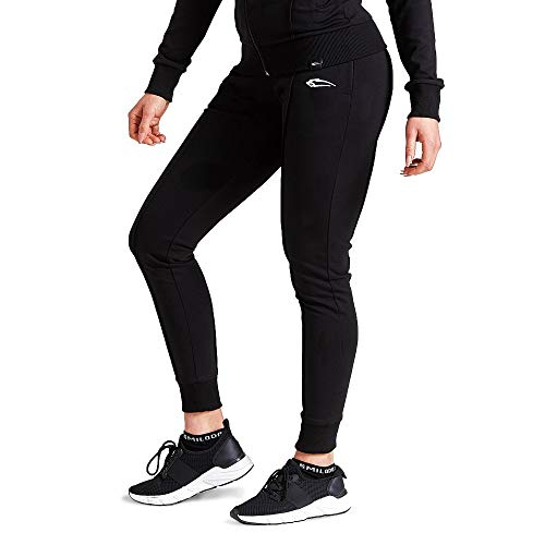 SMILODOX Damen Jogginghose 'Suit up' | Trainingshose für Sport Fitness Gym Training | Sportleggings - Jogger Pants - Sweatpants Hosen - Freizeithose Lang, Schwarz, S