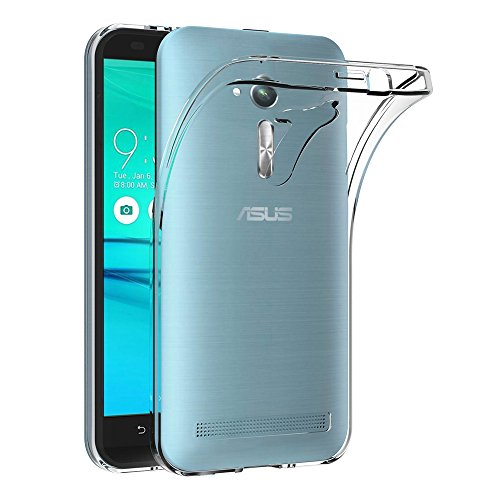 AICEK Coque ASUS Zenfone Go ZB500KL, Transparente Silicone Coque pour Zenfone Go ZB500KL Housse (5,0 Pouces) Silicone Etui Case