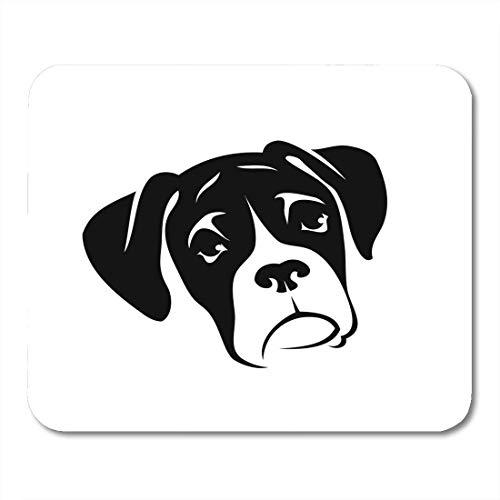 Preisvergleich Produktbild Mauspad allein Boxer Hund Tier Schwarz Rasse Bulldogge Hund Niedlich Mousepad für Notebooks,  Desktop-Computer Mausmatten,  Büromaterial