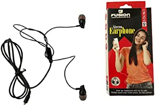 FUSION ACCESSORIES STERIO Ear Phone | in-Ear Wired Earphones with Mic, Compatible with All Phones