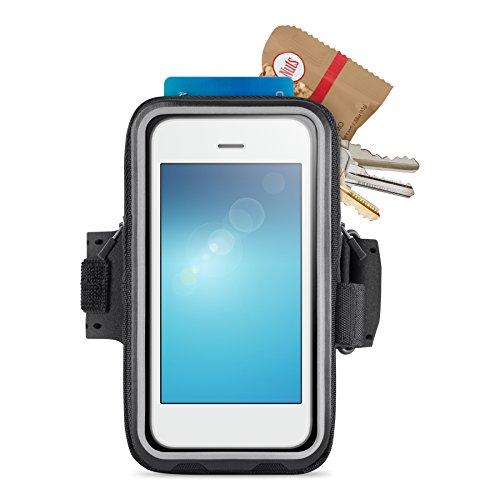 Belkin Storage Plus Armband (geeignet für Smartphones bis 5 Zoll, iPhone 6, iPhone 6s) schwarz