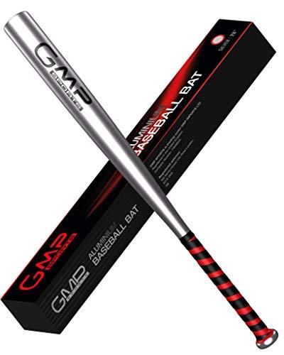 GMP SPORTS – Baseball Schläger 28-Zoll Leicht Aluminium Bat Fur Outdoors & Rounders Order Selbstverteidigung Mit Carry Case (Silber)