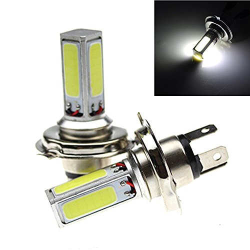 PolarLander 2 pièces Blanc 10W 12V H7 LED Ampoule à Phare Auto Fog Lamp