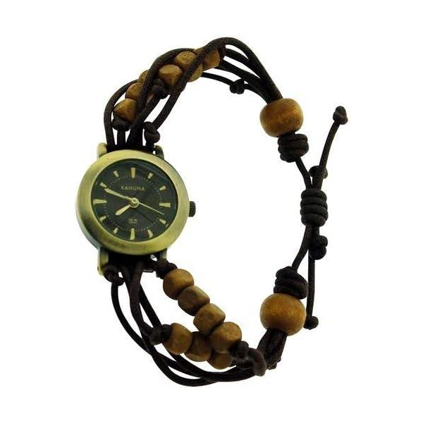 – Lot of 10Pcs- Kahuna Ladies Brown String Bead Bracelet Toggle Watch