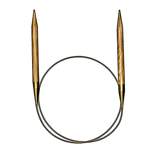 "addi Circular Knitting Needles, Olive Wood, Length 50cm (20"") (US8)"