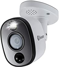Swann Indoor/Outdoor Home Security Camera, 4K Ultra HD Bullet Cam, Heat & Motion Sensing with Sensor Warning Light, BNC Wired, Add to DVR, SWPRO-4KWLB
