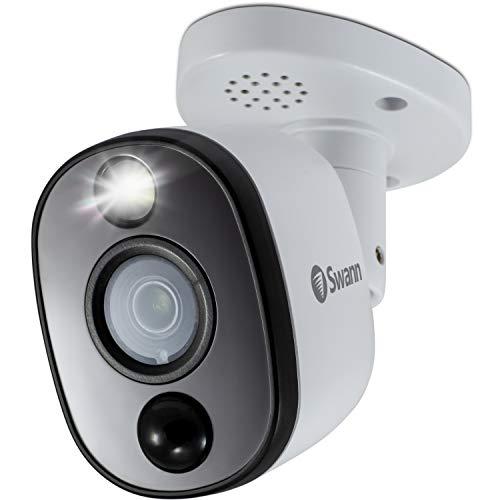 Swann Indoor/Outdoor Home Security Camera, 4K Ultra HD Bullet Cam, Heat & Motion Sensing with Sensor...