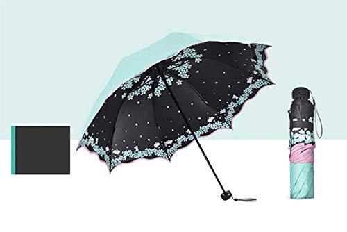 GLYHVXZ Sonnencreme-DREI-facher Regenschirm/Anti-UV-Regenschirm, Fast unattraktives Windmlast, automatisch offen/in der Nähe, Anti-Skid-Griff, einfach zu tragen,F