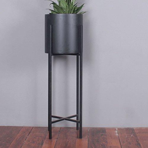 Affichage de support de fleur de balcon Fer à haute seau étage fleur stand stand jardin présentoir cylindre pot de fleur Support de plante extérieur intérieur (Taille : 25 * 25 * 80cm)