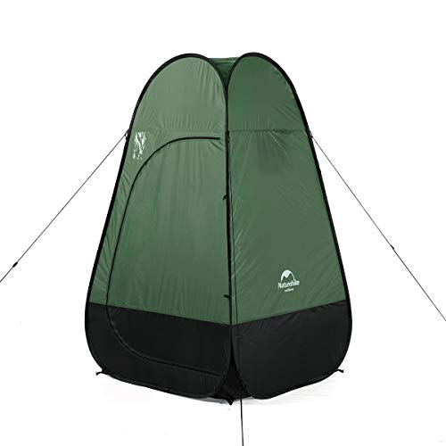 Naturehike Pop Up Camping Shower Tent - Outdoor Toilet, Dressing Room, Bath Room or Fishing Tent - Lightweight, Quickly Build, Stable and Wind Resistant, Waterproof - with Carry Bag