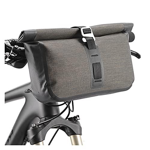 SQATDSBIKE Bolso de Bicicleta 5-6L Bolsa de Bicicleta a Prueba de Agua Reflicto Frontal Tubo MTB Capacidad de Gran Capacidad Bolsa de Manillar Frontal Frame Tronco Pannier Accesorios para Bicicletas