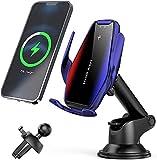 Chargeur sans Fil Voiture 15W Qi Chargeur Induction Voiture Rapide Support de Voiture de Chargement...