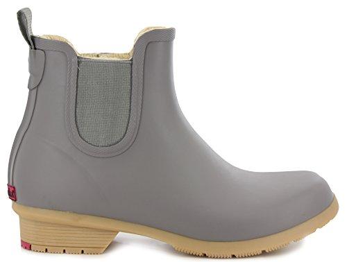 Chooka Women's Bainbridge Fleece Lined Chelsea Bootie Boot, Stone, 8 M US