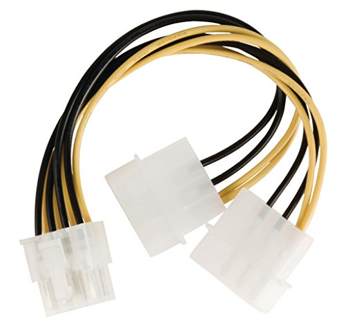 Valueline VLCP74400V015 - Cable (0.15m, Macho/Macho, EPS (8-pin), 2 x Molex (4-pin),...