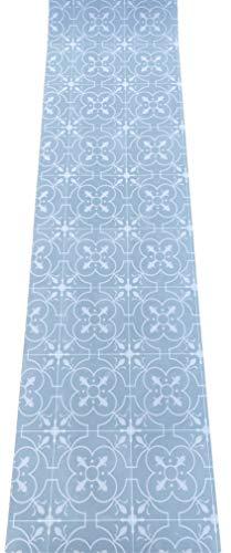 LaVelaHOME - Alfombra de cocina por metro de PVC de 50 cm de ancho - Marmentine - Azulejo