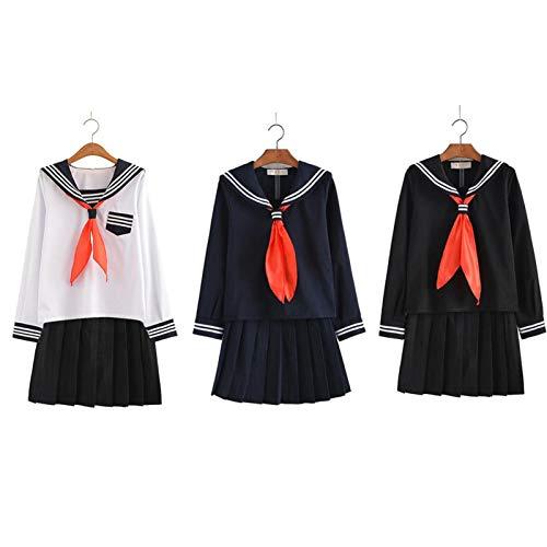 Brownrolly Mode Faltenrock Cosplay Kleid japanische Schule Seemann Uniform für Mädchen