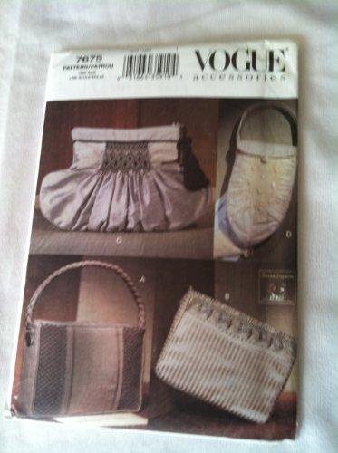 Vogue Accessoires Patron de couture Soirée Sacs # 7675
