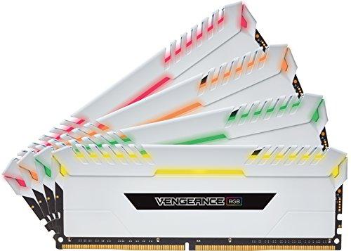 Corsair Vengeance RGB Kit di Memoria Illuminato RGB LED Entusiasta 32 GB (4x8 GB), DDR4 3200 MHz, C16 XMP 2.0, Bianco
