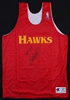 Dikembe Mutombo Autographed Signed Atlanta Hawks Nba Champion Practice Jersey (Size XL) Beckett Coa