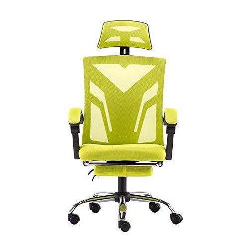 Bürostuhl Ergonomischer Arbeitsstuhl Verstellbare Kopfstütze, Netzrücken und gepolstertes Sitzkissen, Gaming Stuhl, Drehbarer höhenverstellbarer Schreibtischstuhl, Stil D ohne Fußstütze