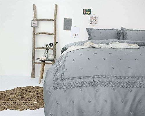 SleepTime Bettwäsche Rl 12  grau 200 x 220 cm + 2/60 x 70 cm