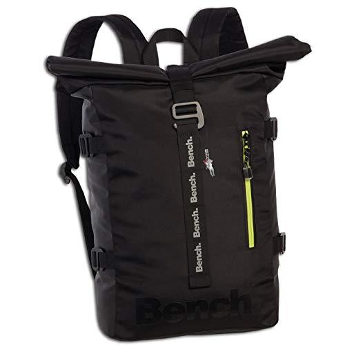Bench Kuriertasche Rucksack schwarz Nylon 29x41x13 Roll Top ORI305S Nylon Rucksack