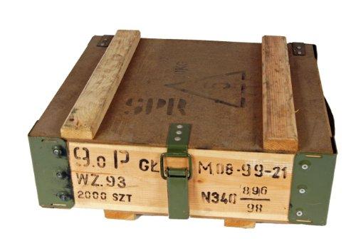 NATO Transportkiste Holzkiste gebraucht 40,5 x 35,5 x 16,5 Werkzeugkiste Lagerkiste