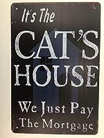 その猫の家。 猫愛好家のサイン、猫のサイン、ティンサイン、カスタム猫のサイン、猫のアクセサリーなど。