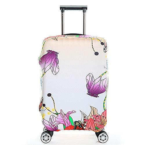 Funda de equipaje Impresión de la funda de equipaje Fundas de equipaje elásticas y a prueba de lluvia para una protección de maletas de 18 a 32 pulgadas (Color: C, Tamaño: S (18 '' - 21 ''))