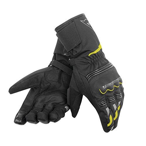Dainese Tempest Unisex D-Dry Long Handschuhe, schwarz/gelb-fluo, Größe XXXS