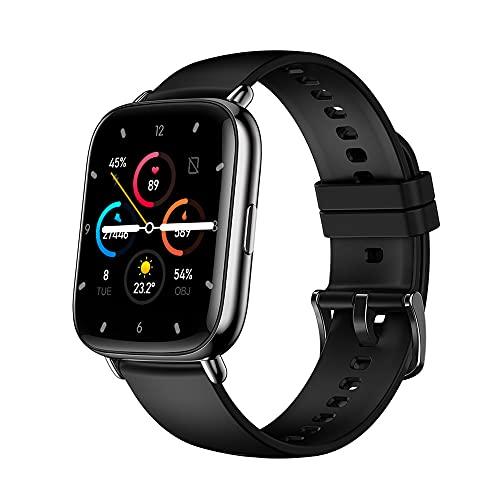 EMPERSTAR Smart Watch Fitness Tracker 1.69 Gran Pantalla Grande Táctil Temperatura Temperatura Sangre Oxígeno Oxígeno Ejercicio Ejercicio Pedómetro,Negro