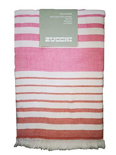 Zucchi - Toalla de playa o piscina de 90 x 165 cm, 100% rizo de algodn teido de hilo con flecos Larissa R1