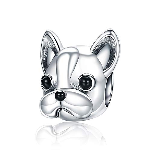 Bulldog 925 Pulsera de plata esterlina Collar colgante para Pandora Charm Pulsera (Buldog)