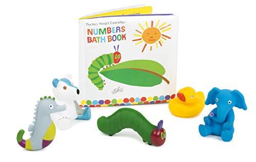 Small Foot-La Chenille Qui Fait des Trous Livre de Bain avec des Figurines dans Un Set, entraîne de manière ludique Les compétences Jouets, 11170, Multicolore