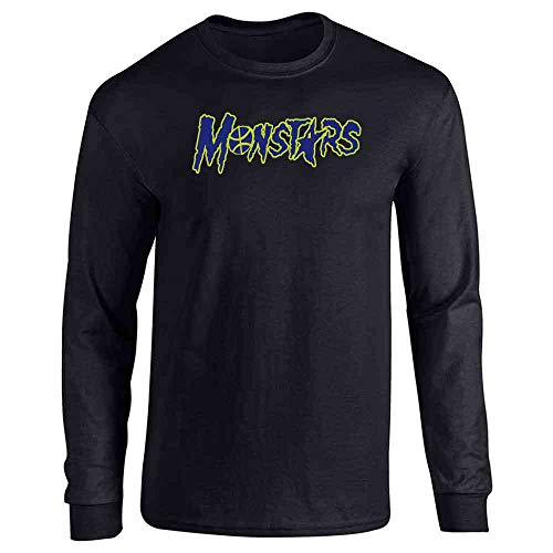 Pop Threads Monstars Basketball Halloween Costume Black M Full Long Sleeve Tee T-Shirt