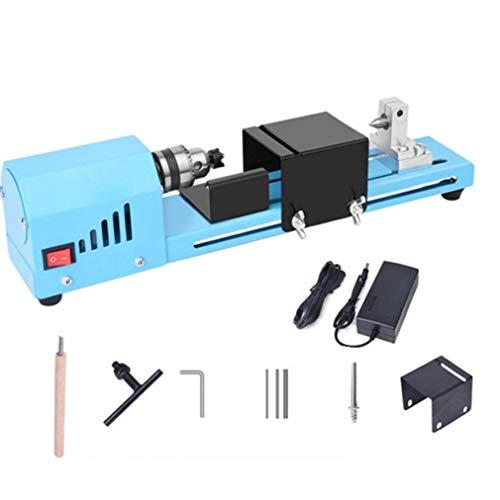 Gracy Torno de Madera Mini Torno Máquina Beads 150W DC 12-24V pulidor de sobremesa Máquinas de DIY Handcraft la fabricación, pequeño Torno