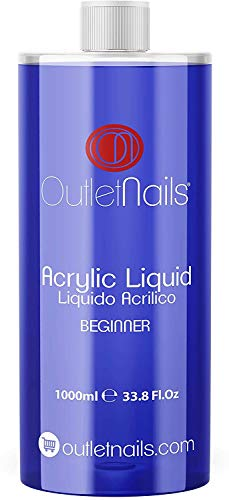 Liquido Acrilico 1000ml Beginner | Monomero para uñas acrílicas | Secado Lento - medio ideal para Principiantes