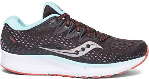 Saucony Women's S10514-45 Ride ISO 2 Running Shoe, Brown | Coral - 8.5 M US