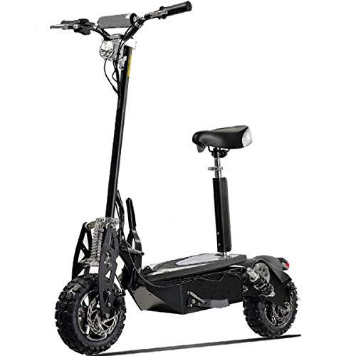 LUO Scooter Eléctrico Adulto Mini Triciclo Eléctrico Batería de Litio Plegable Batería Coche Vehículo Todoterreno de Alta Potencia 2000W Alta Potencia Grande Gran Carga 150Kg Negro-48V,60V