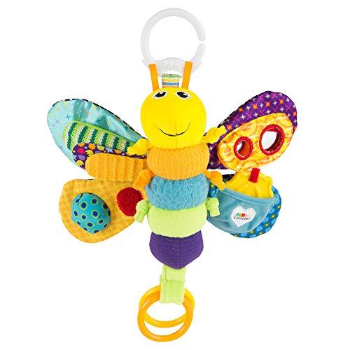 """Lamaze Baby Spielzeug \""""Freddie, das Glühwürmchen\"""" Clip & Go, Hochwertiges Kleinkindspielzeug, Greifling Anhänger zur Stärkung der Eltern-Kind-Beziehung, Baby Mobile, Weihnachtsgeschenk, ab 0 Monaten"""