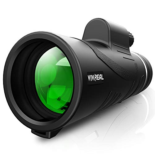 VIVREAL Monocular Telescope - 12X42 High Power Monocular for Bird Watching, IPX7 Waterproof Monocular Made by Hyper FMC BAK4 Prism & Eco-Friendly Materials