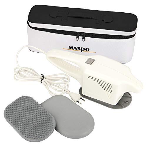 MASPO Vibramat de Luxe Großflächenmassagegerät Profi Massagegerät inkl. eleganter Transporttasche, Kunststoff-Hyperämisierungsbürste und Moosgummischuh, glatt