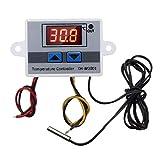 Pceewtyt Regulador de temperatura digital LED de 220 V, 10 A, termostato con interruptor, pantalla digital, regulador de incubación