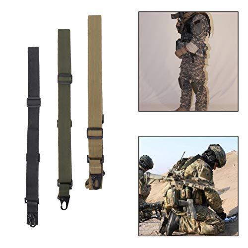 NO LOGO XBF-Giratorio, Sling Tactical de 3 Puntos Rifle Sling Bungee Sling Ajustable Gira Airsoft Caza Pistola Correa
